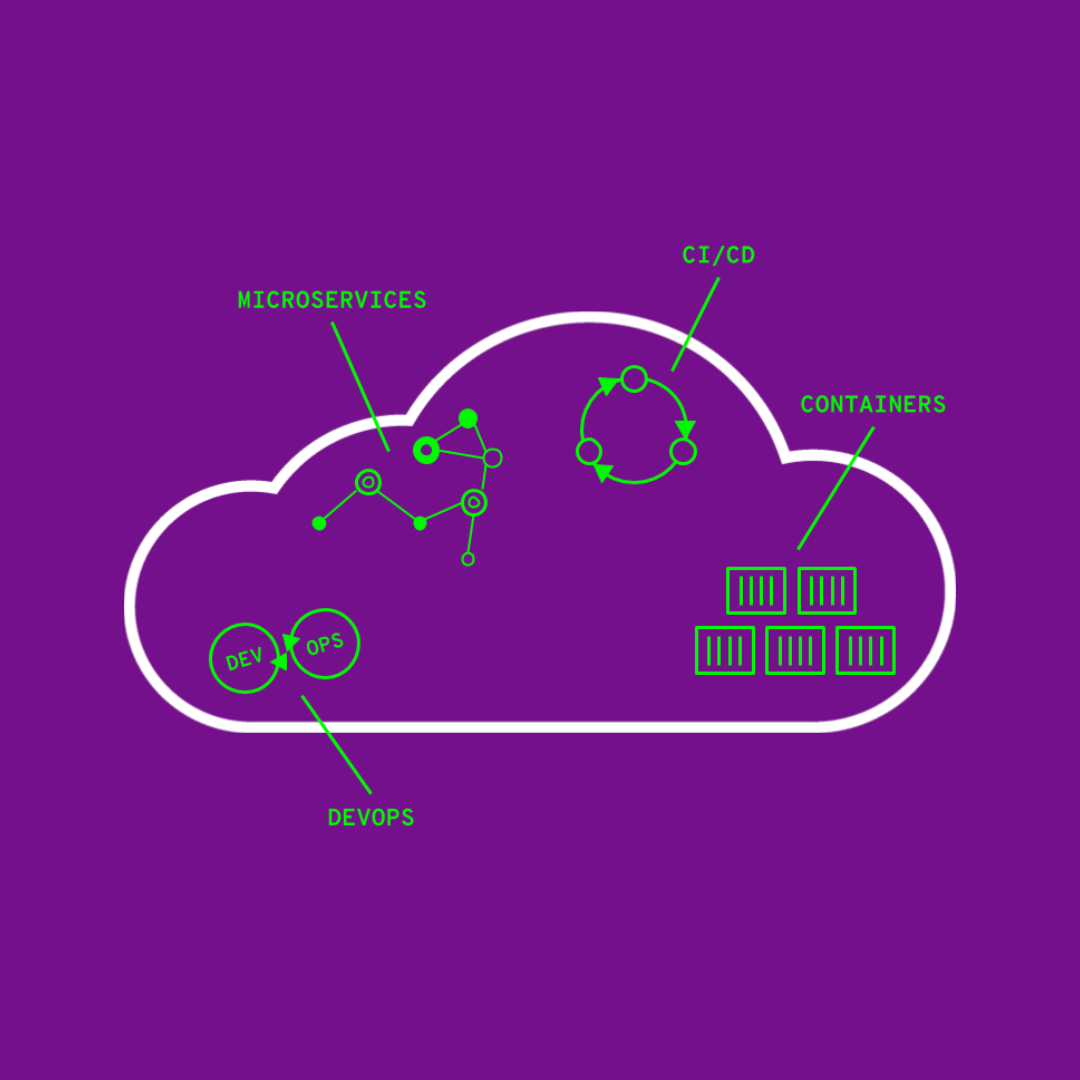 Parts of cloud-native software development